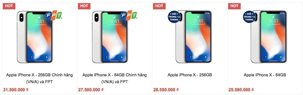 iPhone X chính hãng chênh nhau hơn 3 triệu đồng - Ảnh 1.