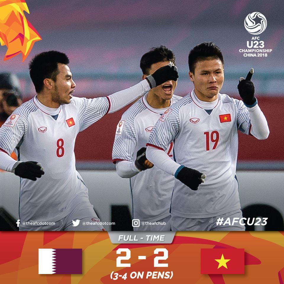 Việt Nam làm nên lịch sử khi đánh bại U23 Qatar, bạn bè Quốc tế đồng loạt gửi lời cổ vũ và chúc mừng - Ảnh 1.