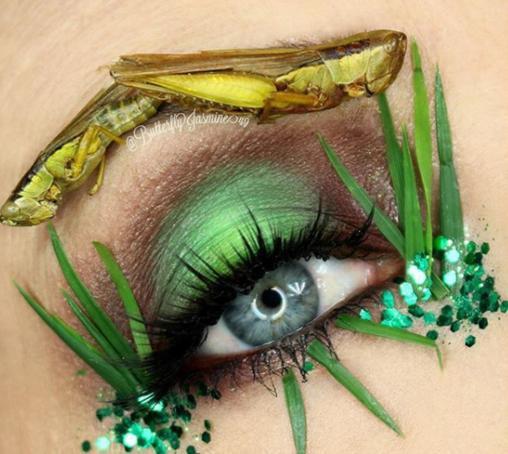 Nhặt nhạnh xác côn trùng, cô gái đã làm nên những tác phẩm make up đỉnh cao - Ảnh 9.