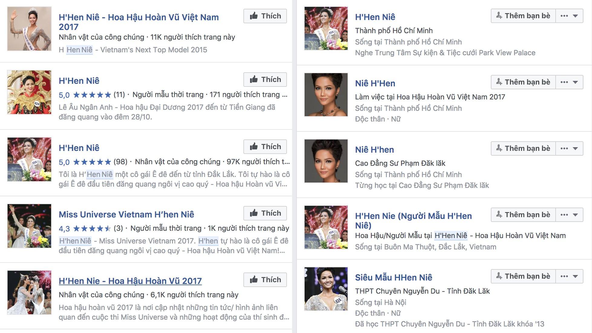 Tài khoản Facebook, Instagram mạo danh Hoa hậu HHen Niê đang mọc lên như nấm sau mưa - Ảnh 1.