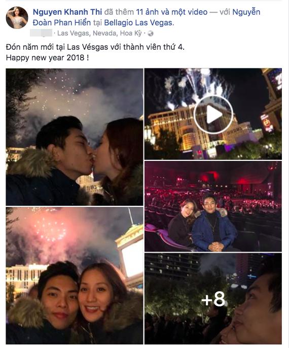 Đăng ảnh đón năm mới bên Phan Hiển, Khánh Thi hạnh phúc thông báo đang mang thai lần 2 - Ảnh 1.