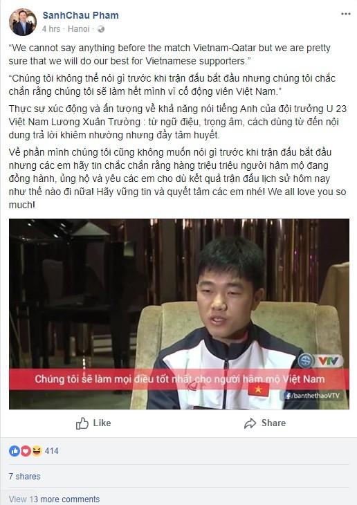 Người dân cả nước đồng loạt gửi lời chúc chiến thắng đến đội tuyển U23 Việt Nam trước thềm trận bán kết lịch sử với Qatar - Ảnh 1.