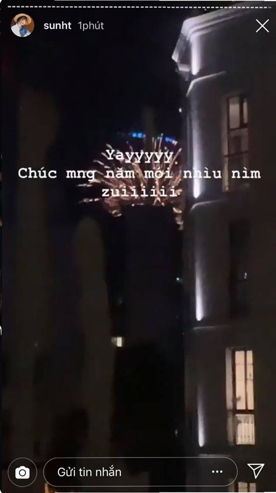 Hotgirl đón năm mới: Sunht countdown ngắm pháo hoa, Primmy Trương chỉ nằm dài và... ngủ! - Ảnh 1.