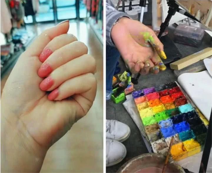 Nhìn những bàn tay chai sạn, nứt nẻ, rỉ máu này để thấy sinh viên ngành nghệ thuật khổ đến mức nào - Ảnh 11.