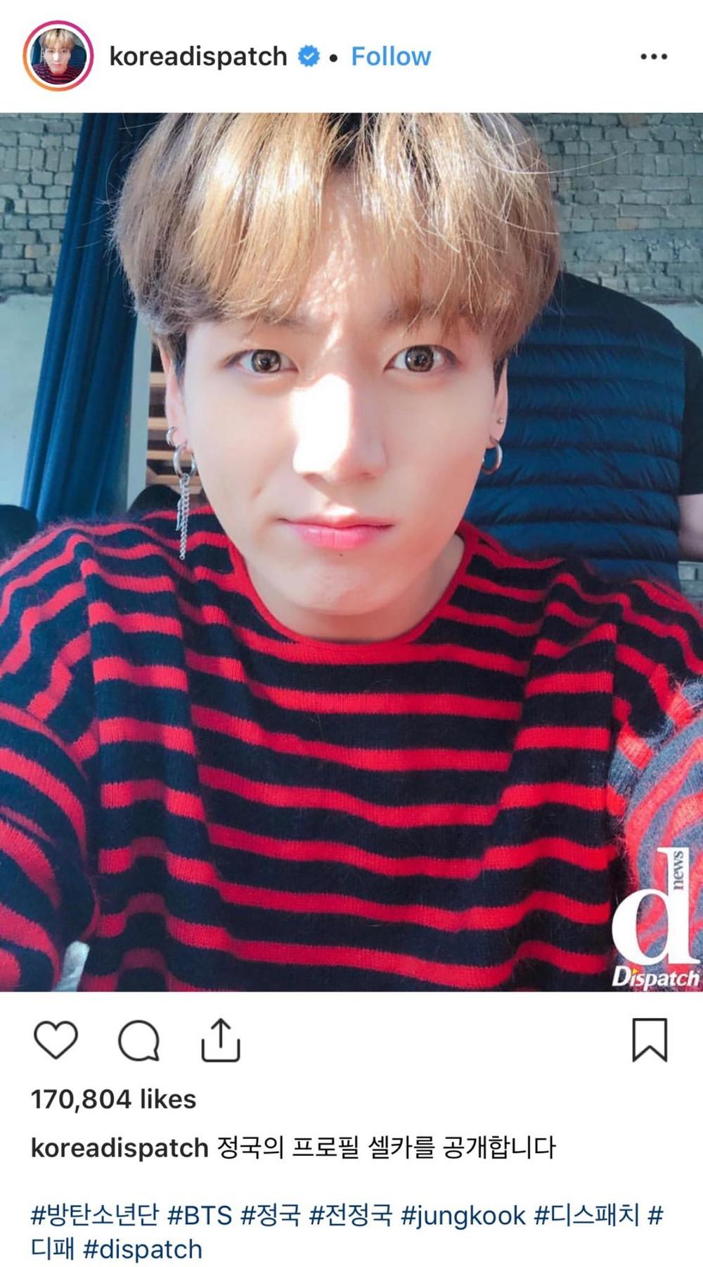 Dispatch đổi ảnh đại diện thành Jungkook (BTS) đầy ẩn ý, dân tình thi nhau ship anh với mỹ nam này thay vì Rosé - Ảnh 1.