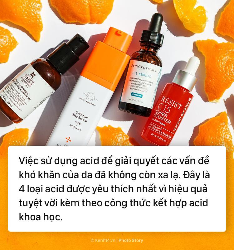 Chỉ cần thuộc mặt các loại acid sau và cách kết hợp chúng trong quy trình dưỡng da là bạn có thể sở hữu làn da đẹp như mơ - Ảnh 1.