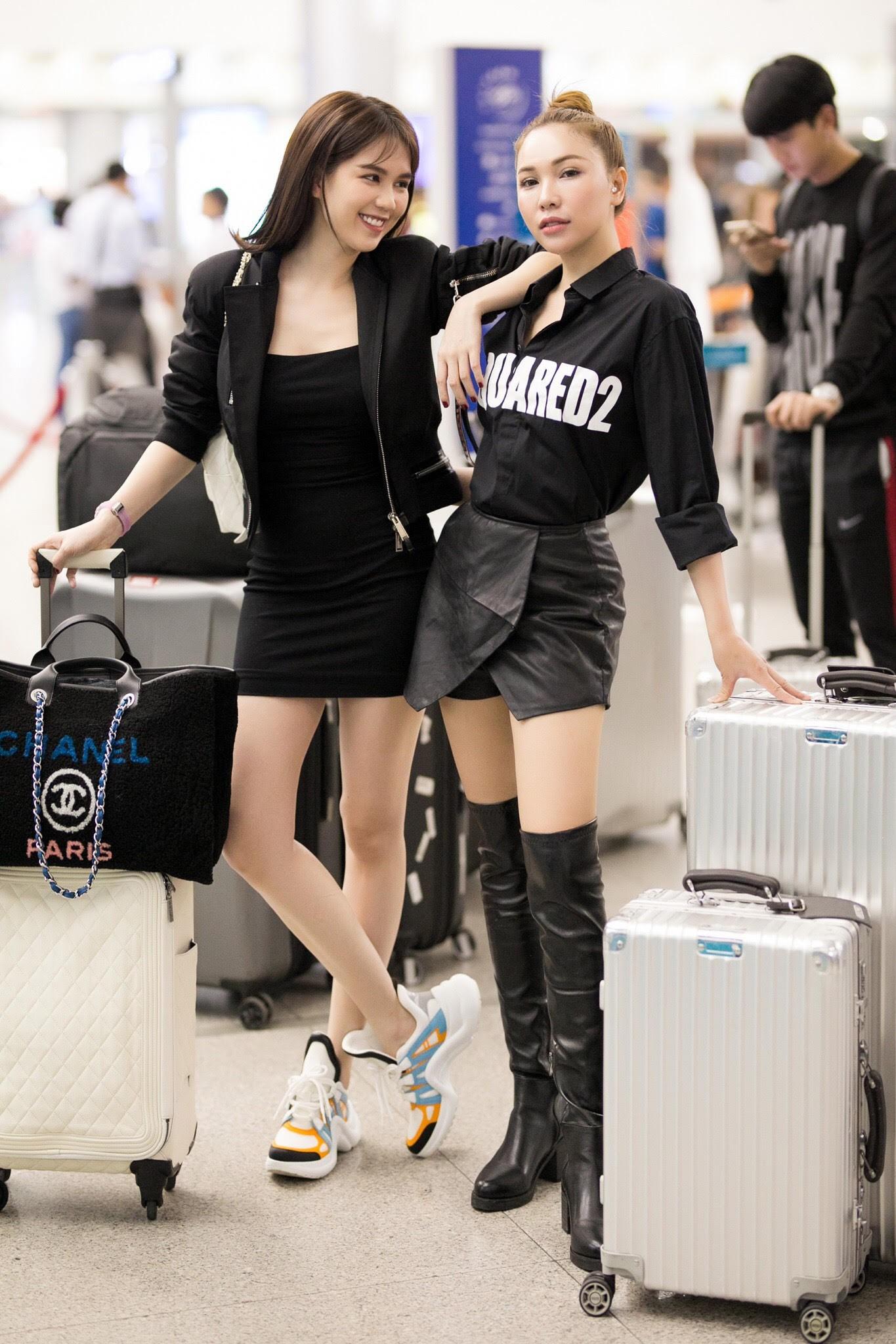 Ngọc Trinh gợi cảm với váy bó sát, Quỳnh Thư diện đồ cá tính lên đường dự Tuần lễ thời trang Milan - Ảnh 5.
