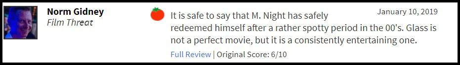 """""""Glass"""" bị giới phê bình chê tơi tả, sự nghiệp của M. Night Shyamalan quả là lên xuống như biểu đồ hình sin - Ảnh 10."""