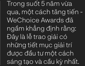 WeChoice Awards: Hành trình đẹp đẽ từ những giấc mơ - Ảnh 8.