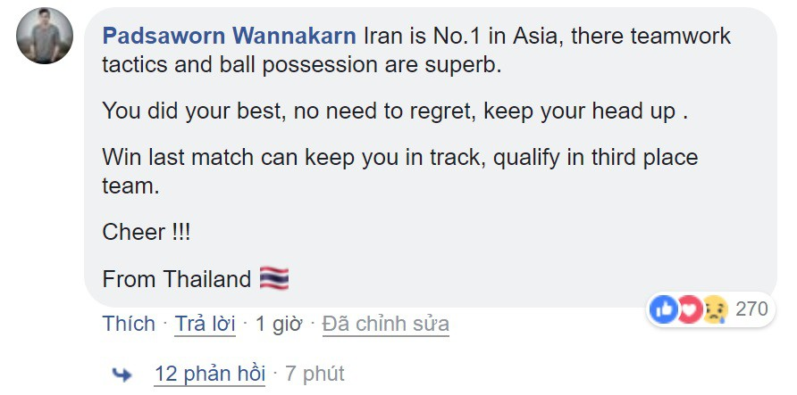 Thua Iran nhưng tinh thần quả cảm của các chàng trai Việt Nam đã đánh cắp trái tim fan quốc tế - Ảnh 8.