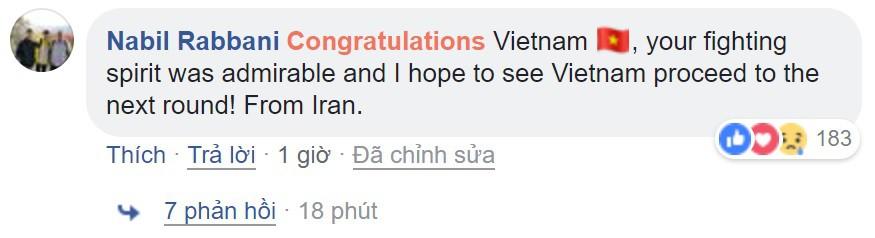 Thua Iran nhưng tinh thần quả cảm của các chàng trai Việt Nam đã đánh cắp trái tim fan quốc tế - Ảnh 9.