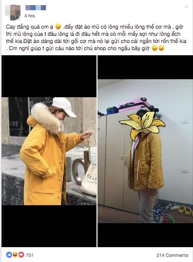 Đặt mua áo khoác mũ lông, chiều dài đến gối nhưng khi nhận hàng cô gái bèn cầu cứu dân mạng chỉ cách trả lời shop sao cho ngầu - Ảnh 1.