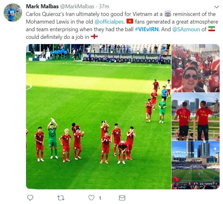Thua Iran nhưng tinh thần quả cảm của các chàng trai Việt Nam đã đánh cắp trái tim fan quốc tế - Ảnh 4.