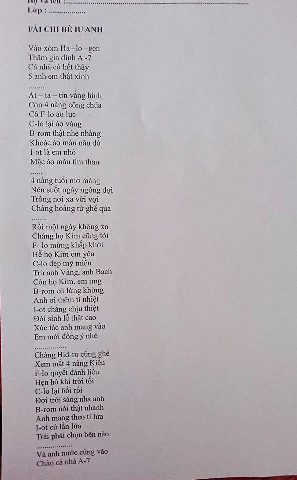 Cô giáo biết lớp học giỏi Văn nên ra hẳn đề kiểm tra Hoá dưới dạng thơ tình để lớp thành người có Văn Hoá - Ảnh 2.