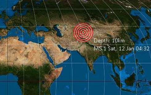 Động đất rung chuyển khu tự trị Tân Cương (Trung Quốc) - Ảnh 1.