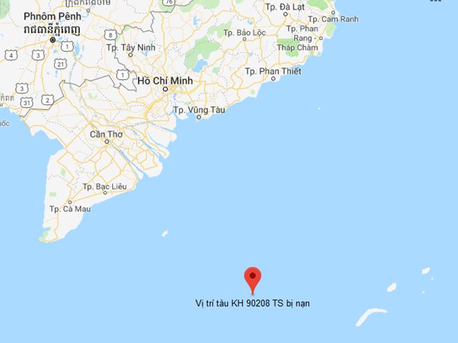 Một tàu cá bị chìm ở vùng biển phía Nam, 10 ngư dân mất tích - Ảnh 1.