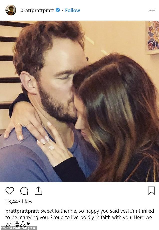 Kết thúc cuộc hôn nhân 8 năm, siêu sao Jurassic World Chris Pratt cuối cùng đã cầu hôn con gái Kẻ dủy diệt - Ảnh 1.