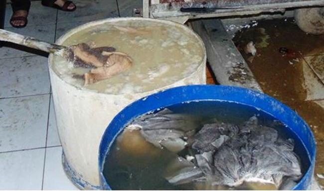 Kinh hãi nội tạng bò bốc mùi được ngập trong nước vôi bột làm trắng để bán phá lấu, lẩu bò ở Sài Gòn - Ảnh 2.