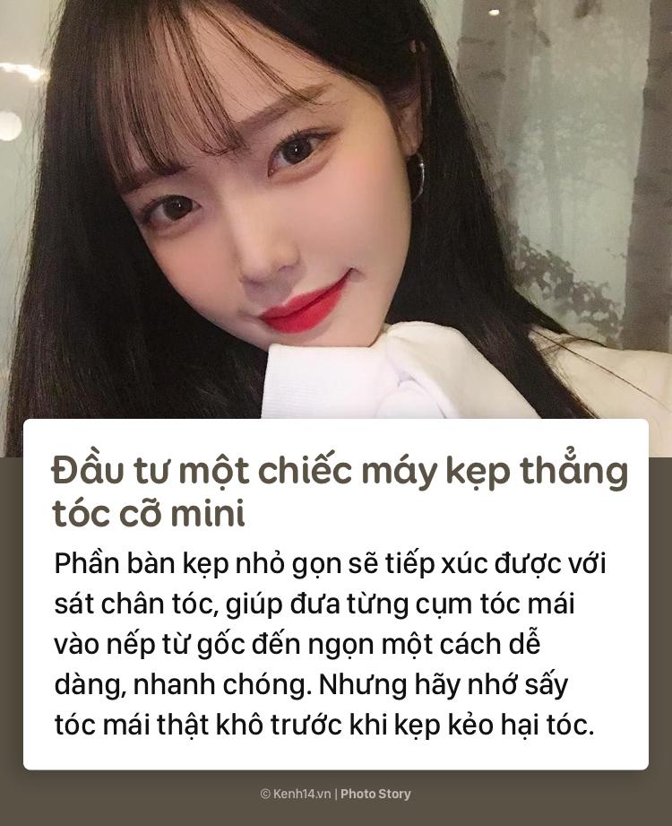 Học thuộc những tips sau để có phần tóc mái đẹp như gái Hàn - Ảnh 9.