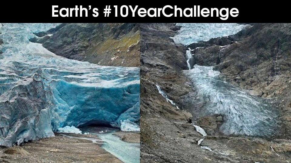 Khi Trái đất cũng theo trend Thử thách 10 năm, cảm xúc chỉ còn 2 chữ: Xót xa - Ảnh 4.