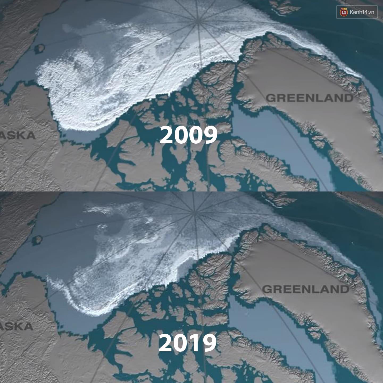Khi Trái đất cũng theo trend Thử thách 10 năm, cảm xúc chỉ còn 2 chữ: Xót xa - Ảnh 2.