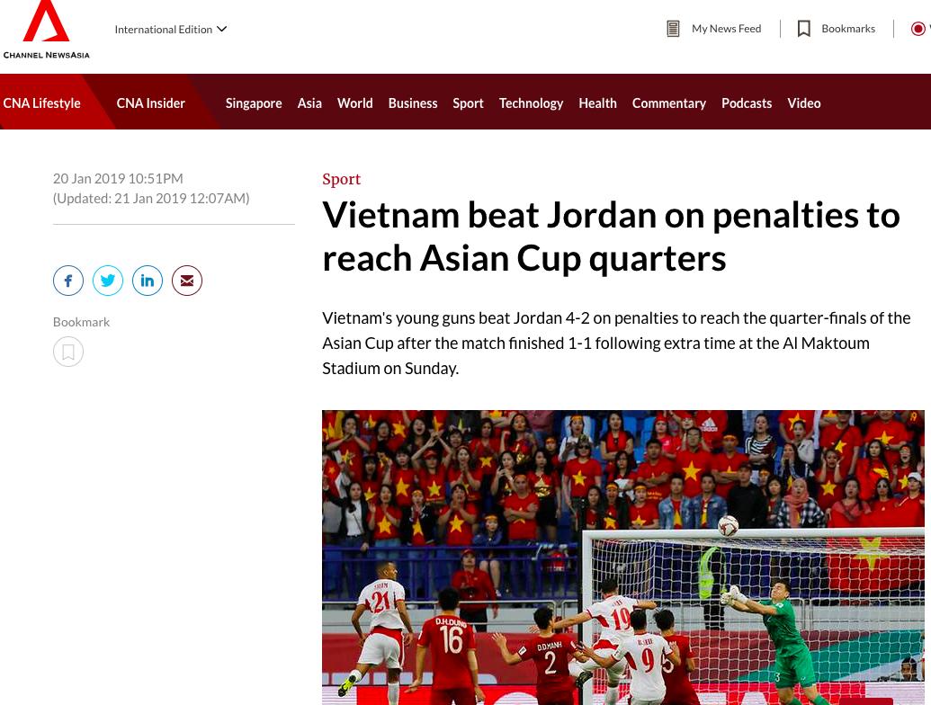 Báo nước ngoài đồng loạt đưa tin Việt Nam vào tứ kết: Rồng vàng Châu Á, sẽ đánh bại Nhật Bản ở Asian Cup - Ảnh 5.