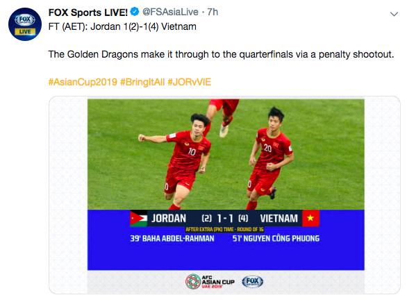 Báo nước ngoài đồng loạt đưa tin Việt Nam vào tứ kết: Rồng vàng Châu Á, sẽ đánh bại Nhật Bản ở Asian Cup - Ảnh 7.