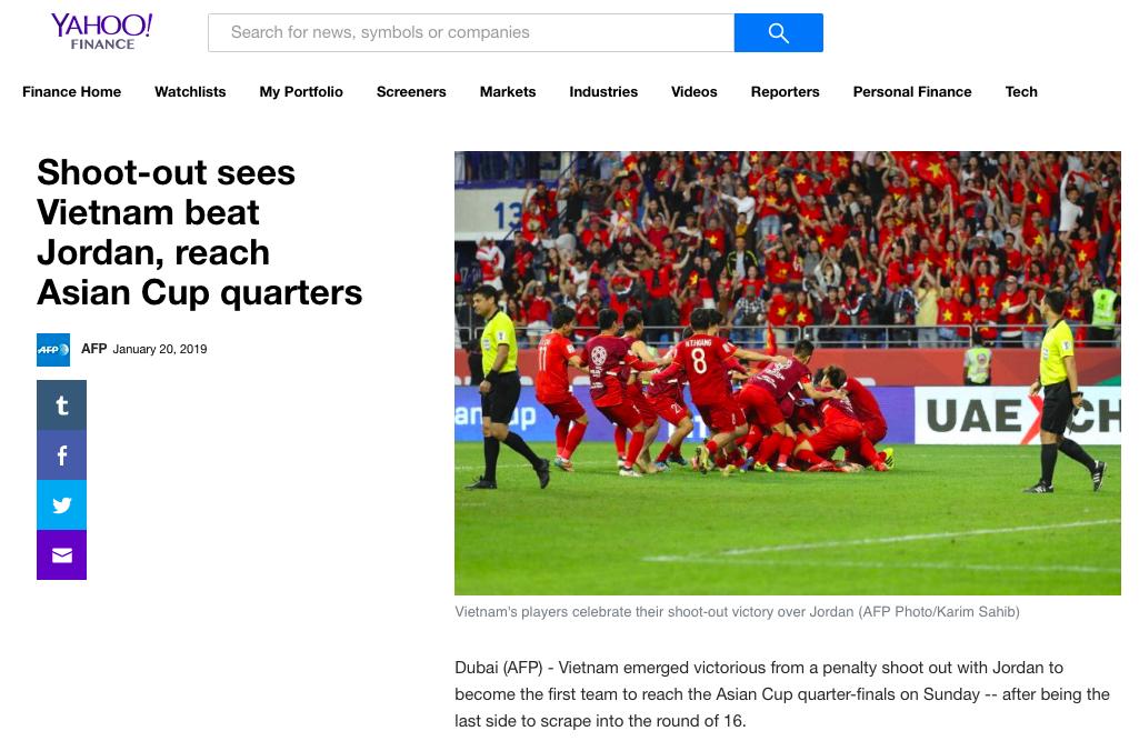 Báo nước ngoài đồng loạt đưa tin Việt Nam vào tứ kết: Rồng vàng Châu Á, sẽ đánh bại Nhật Bản ở Asian Cup - Ảnh 9.