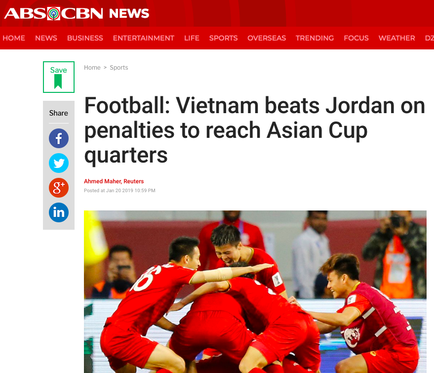 Báo nước ngoài đồng loạt đưa tin Việt Nam vào tứ kết: Rồng vàng Châu Á, sẽ đánh bại Nhật Bản ở Asian Cup - Ảnh 8.