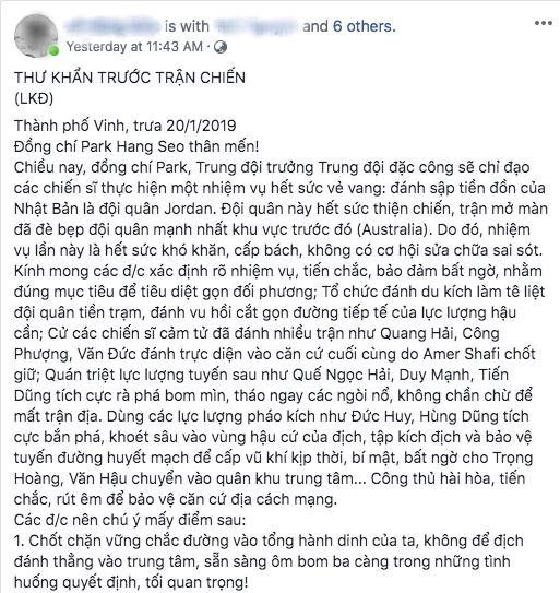 Bức thư khẩn gửi đội tuyển Việt Nam với phong cách chuyên Sử gây sốt MXH vì quá độc đáo và hào hùng - Ảnh 1.