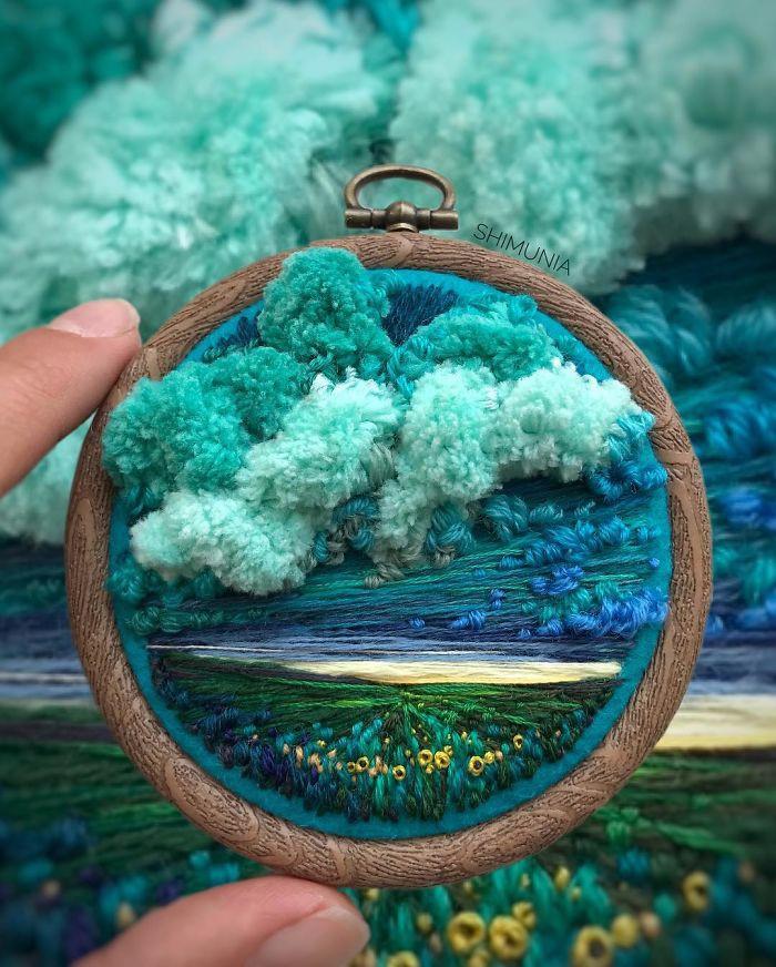 Nghệ sĩ Nga thêu 3D tài tình đến mức cảnh vật như muốn nhảy ra khỏi khung tranh - Ảnh 7.