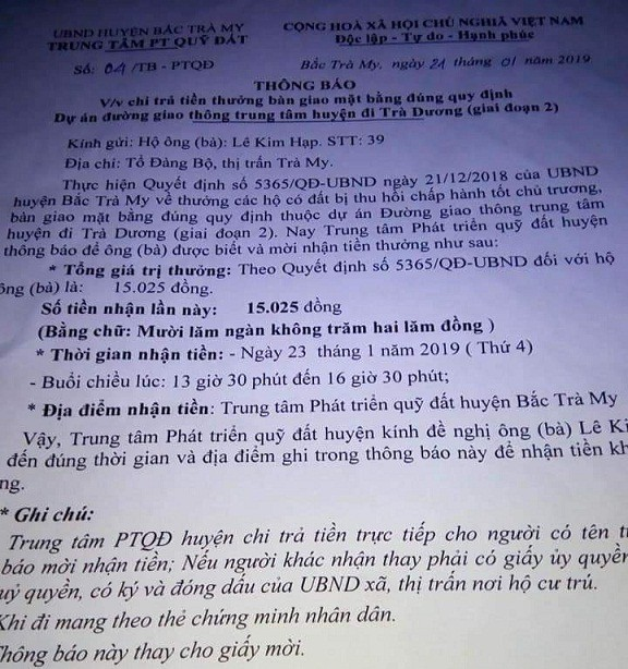 Quang Nam: Providing the pay of VND 15.025 - Picture 1.