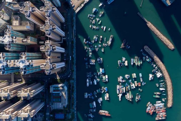 Góc nhìn độc đáo về Hong Kong qua những bức ảnh chụp từ trên cao - Ảnh 7.