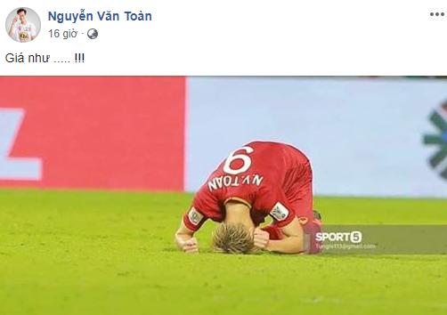 Còn Văn Toàn, anh chàng chỉ ước rằng giá như chạm được tới trái bóng trong đường chuyền của Lương Xuân Trường cuối trận đấu với Nhật Bản. Nếu được như vậy, có lẽ đội tuyển sẽ có thể có bàn thắng.