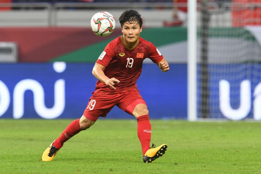 Quang Hải ghi 1 bàn tại Asian Cup 2019. Ảnh: Getty.