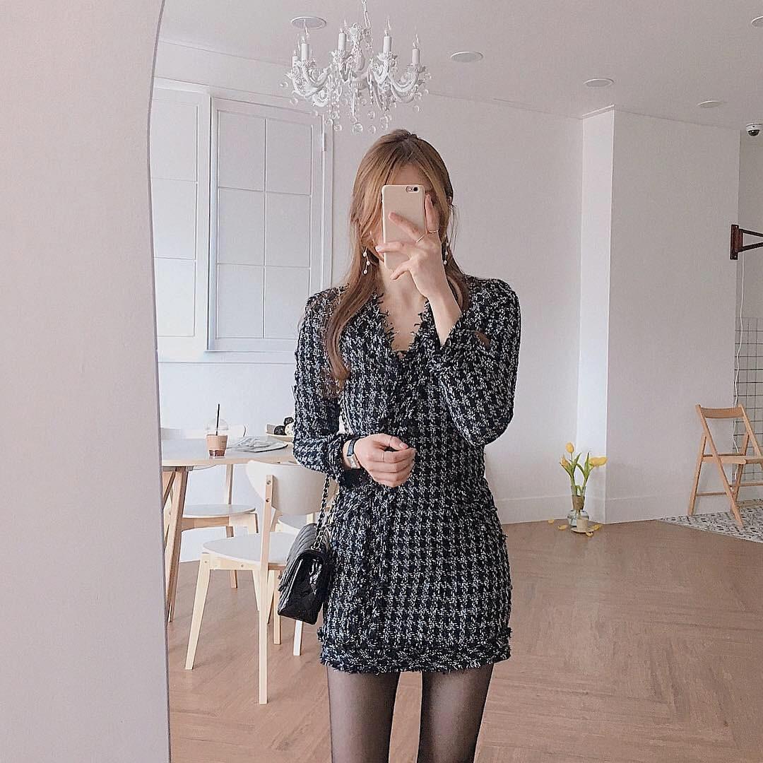 Dễ mặc đẹp mà lại sang chảnh hết nấc, váy áo vải tweed chính là thứ mà nàng nào cũng nên sắm để diện Tết - Ảnh 8.