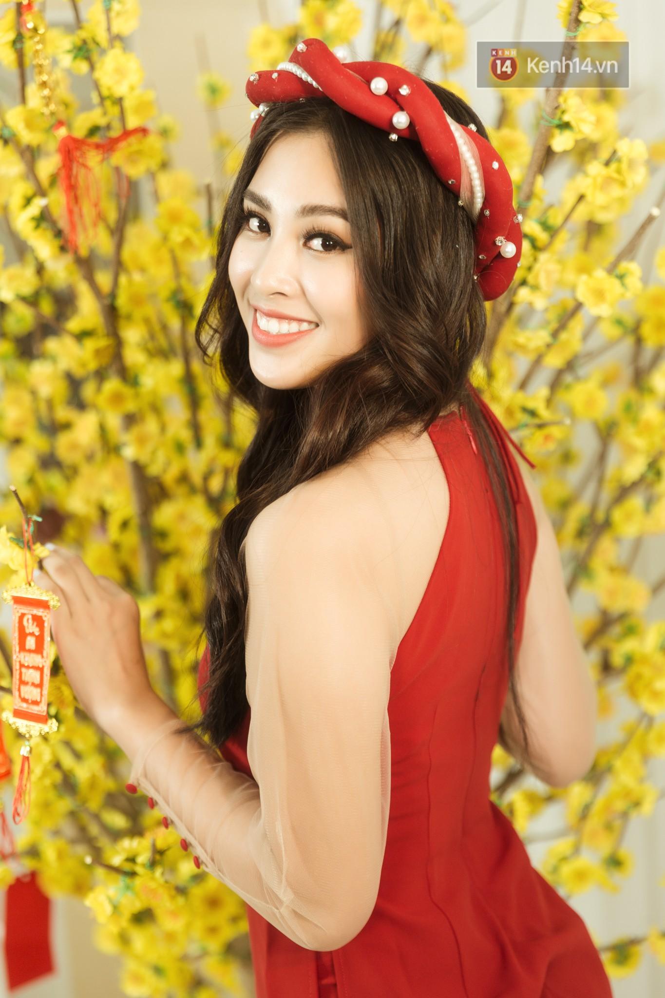 Tất tần tật về cái Tết đầu tiên là một Hoa hậu của cô nữ sinh vừa bước sang tuổi 19 Trần Tiểu Vy - Ảnh 2.