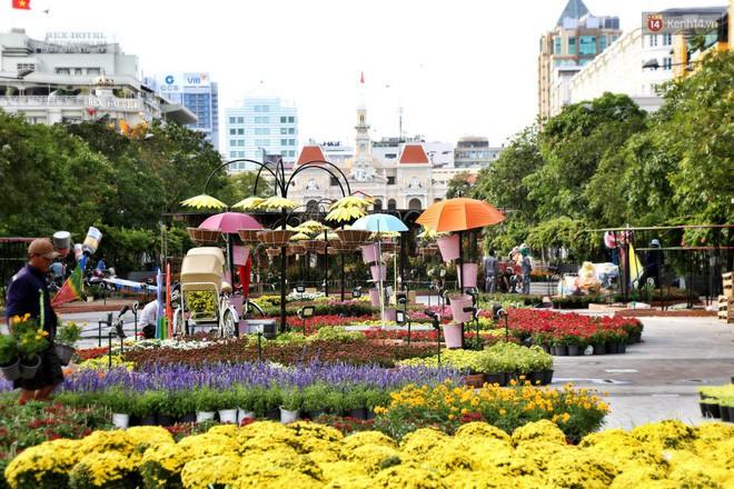 Cận cảnh đường hoa Nguyễn Huệ ở Sài Gòn trước giờ khai mạc đón Tết Kỷ Hợi 2019 - Ảnh 14.
