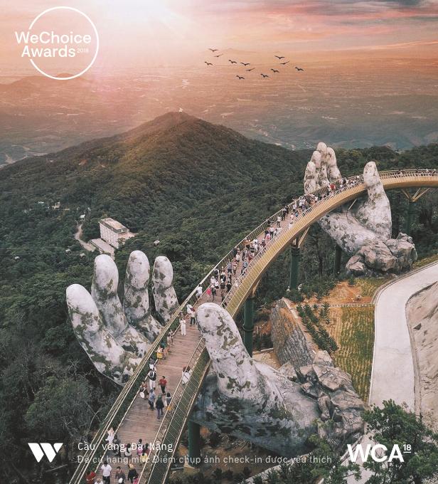 Cầu Vàng Đà Nẵng chính là điểm chụp ảnh check-in được yêu thích nhất 2018 - Ảnh 5.