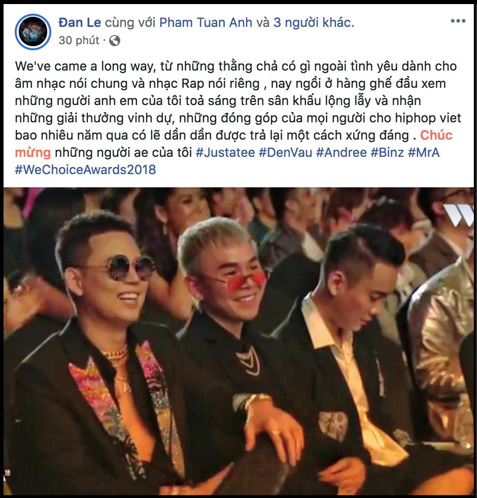 Nghệ sĩ Việt bày tỏ cảm xúc sau đêm Gala WeChoice Awards 2018: Vỡ oà xúc động, hạnh phúc vì những câu chuyện đầy ý nghĩa! - Ảnh 11.