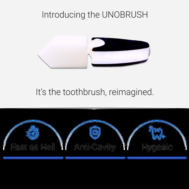 UNOBRUSH: Bàn chải que kem, ngậm 6 giây là răng miệng sạch bong khỏi mắc công cọ chải - Ảnh 2.