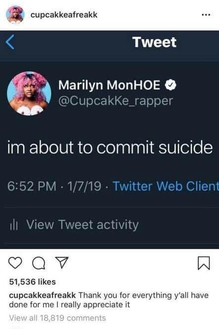 Từng quấy rối em út Jungkook, nữ rapper người Mỹ bị fan BTS vô tâm giễu cợt khi quyết định tự tử - Ảnh 1.