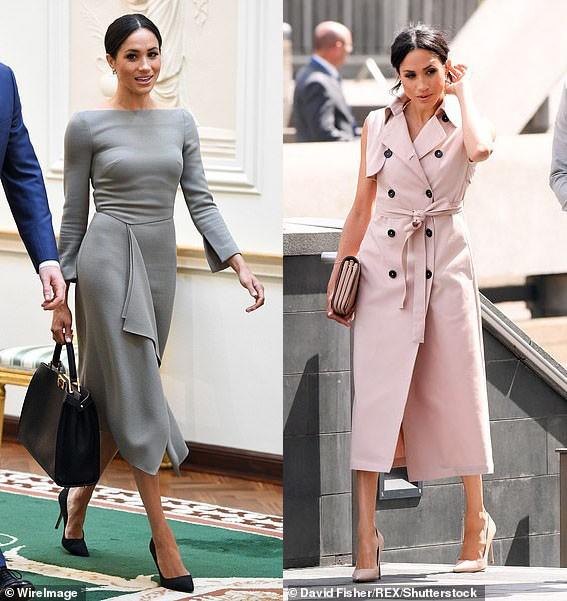 8 tháng làm dâu Hoàng gia, Meghan Markle đã chi tiền mua quần áo gấp 6 lần tủ đồ cả năm 2018 của Kate - Ảnh 7.