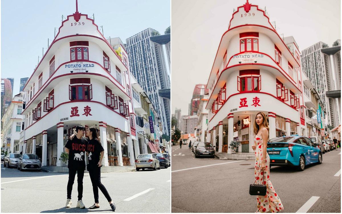"""Ngày đầu hưởng tuần trăng mật, Đông Nhi và Ông Cao Thắng check-in """"Tiệm Khoai Tây"""" siêu hot lúc nào cũng đông nghẹt khách ở Singapore"""