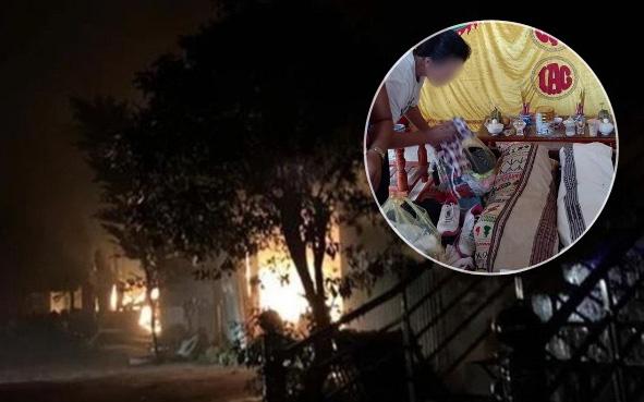Vụ cả nhà chết cháy thương tâm: Người chồng tưới dầu hỏa rồi leo lên giường đốt khiến vợ và 2 con nhỏ tử vong
