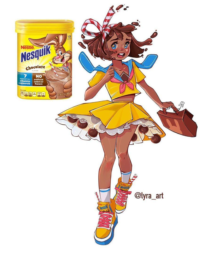 """Thử tưởng tượng các loại đồ ăn sẽ """"biến hình"""" thành nhân vật anime, đâu là cái tên giành ngôi cosplay xuất sắc nhất? - Ảnh 19."""