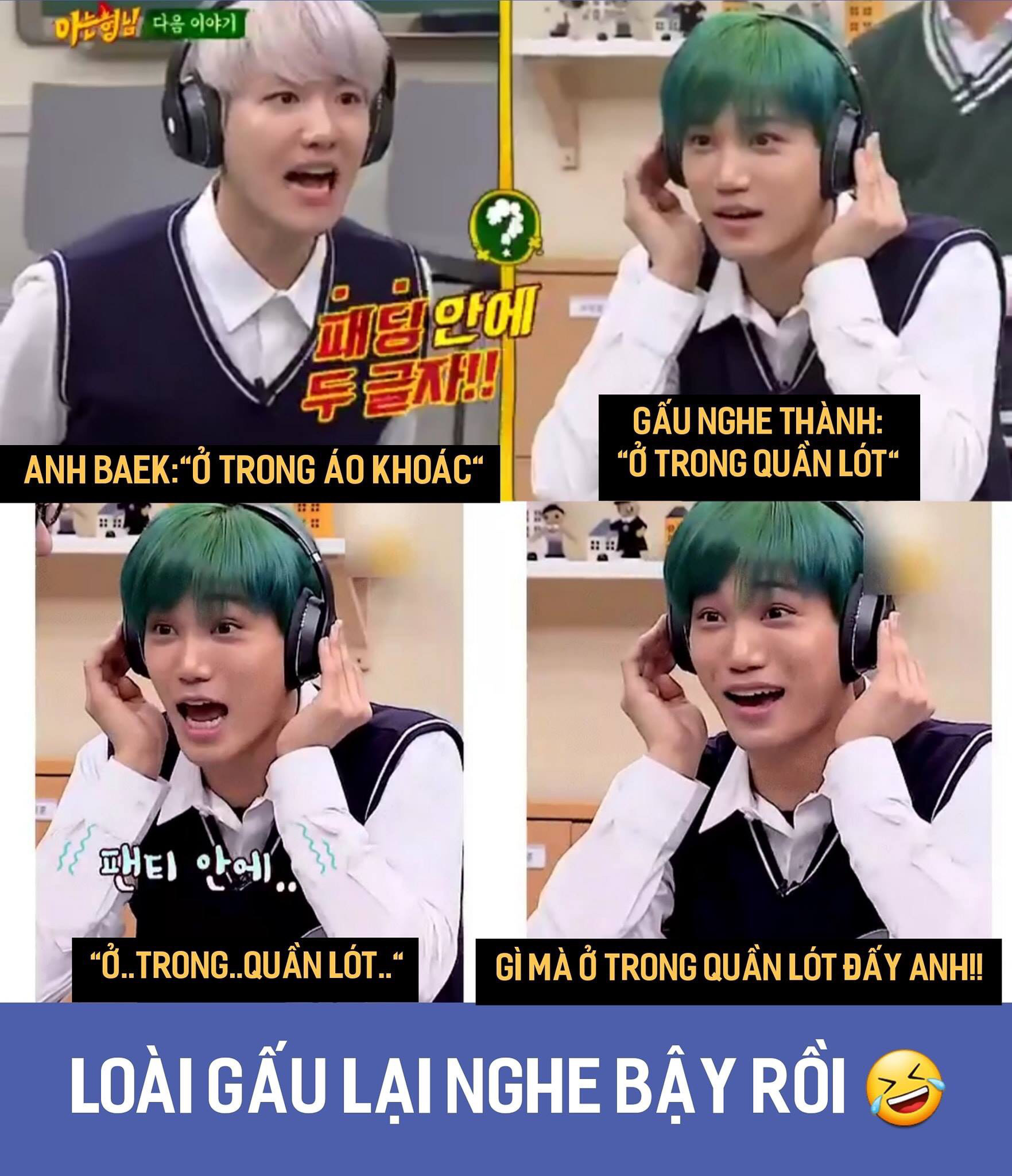 Pha nghe nhầm tai hại của Kai (Ảnh: KAIcholate - EXO Kai's Vietnam fanpage)