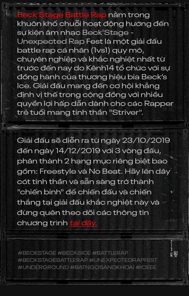 """Beck'Stage Battle Rap: Giải đấu khủng nhất của rap Việt Nam và lời khẳng định """"We are Striver"""" - Ảnh 12."""