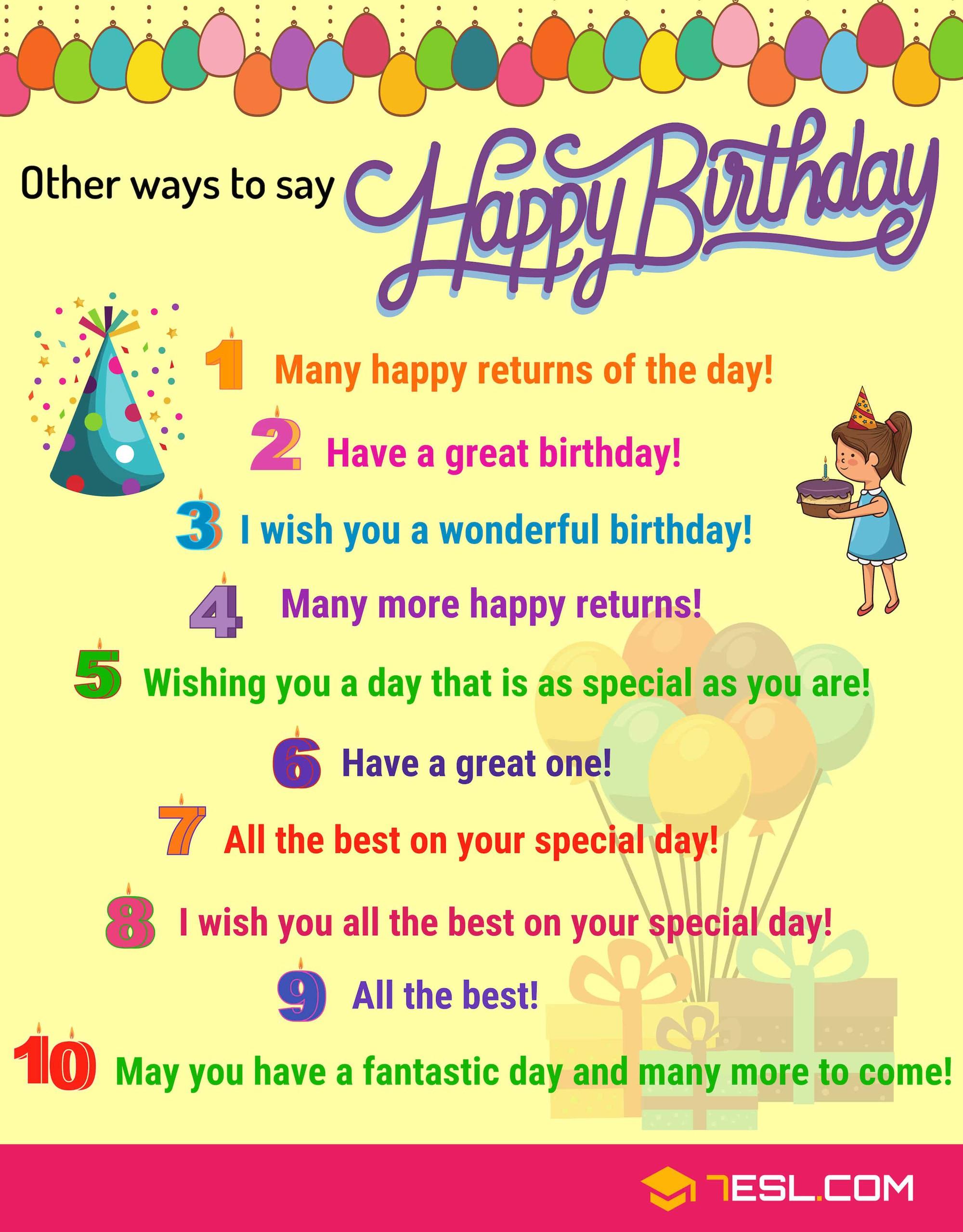 Muốn chúc mừng sinh nhật bằng Tiếng Anh nhưng chỉ nói được Happy Birthday đầy nhạt