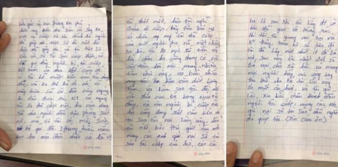 Công an truy tìm tên cướp bí ẩn gửi thư xin lỗi trả lại 100 triệu cùng 2 ĐTDĐ Iphone trước tết - Ảnh 1.